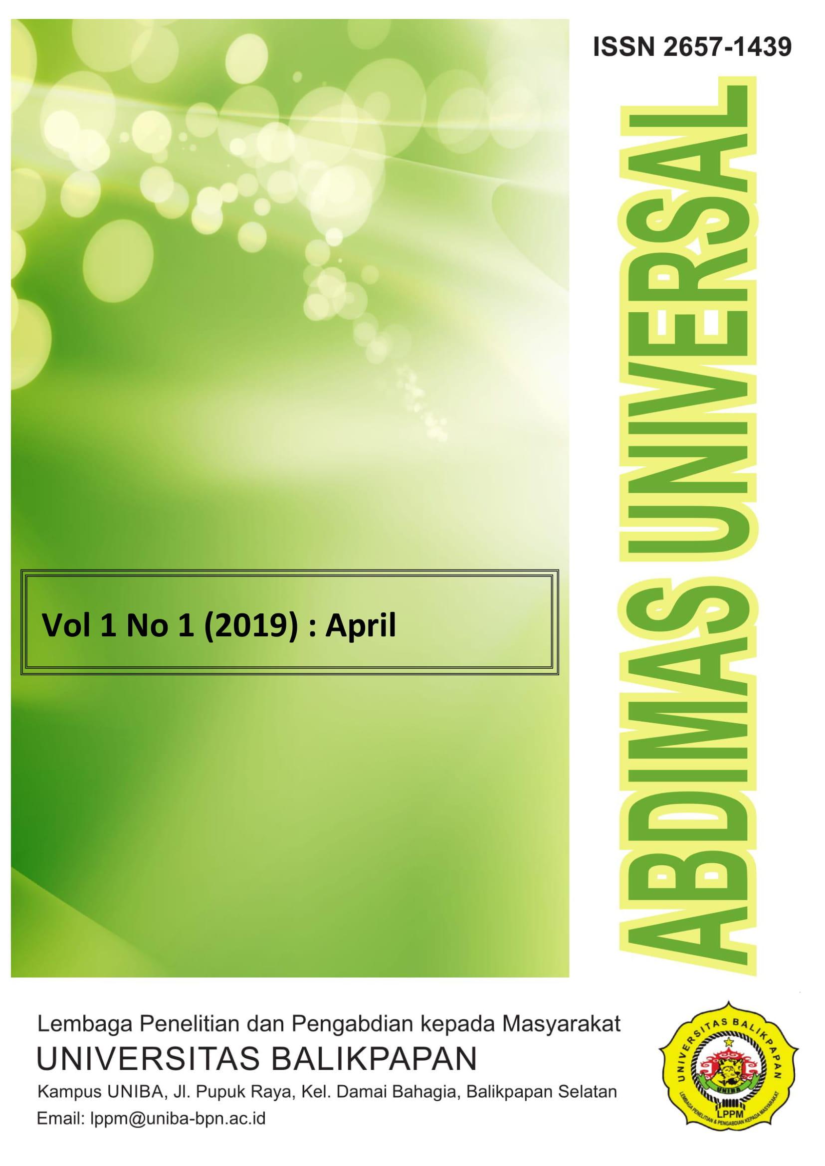View Vol. 1 No. 1 (2019): April